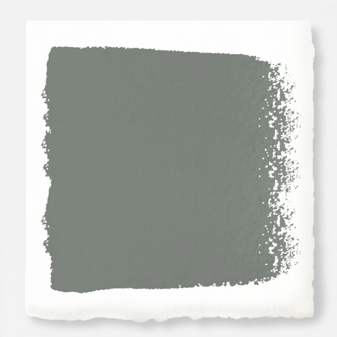 Mid-tone sage green blended with earthy gray exterior paint
