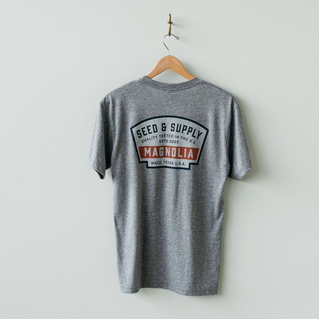magnolia seed and supply badge shirt