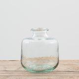 short glass apothecary bottle vase