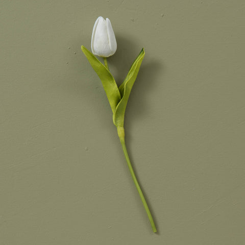 faux white tulip stem