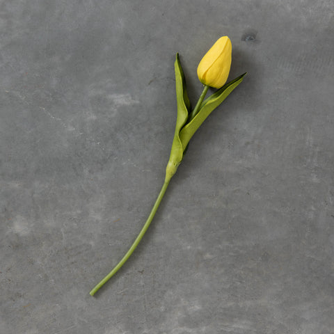 faux yellow tulip stem
