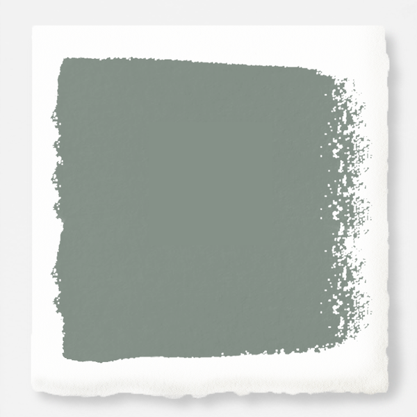 Deep gray with hues of rich blue and sage green exterior paint