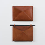 single leather wall organizer
