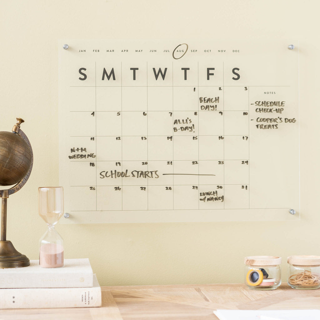 small acrylic wall calendar