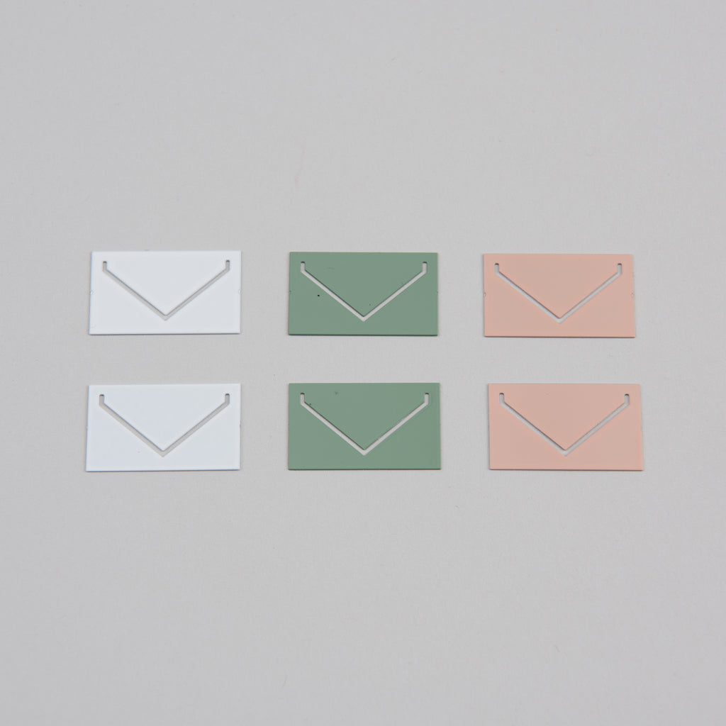 small colored envelope paperclips