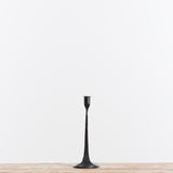 black metal taper candleholder