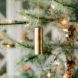 cylindrical brass bell christmas ornament