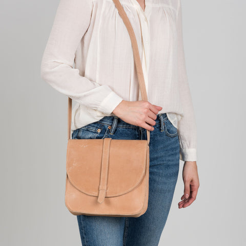 small light pink crossbody purse