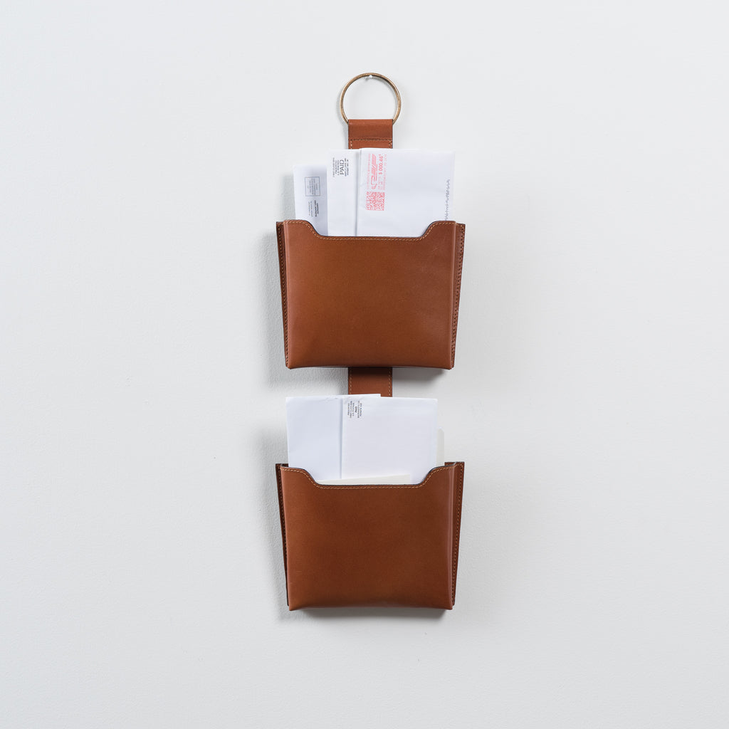 small leather wall pocket organizer