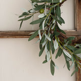 small faux olive wreath