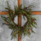 small faux pine wreath