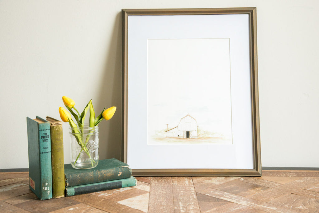 Barn Watercolor Print