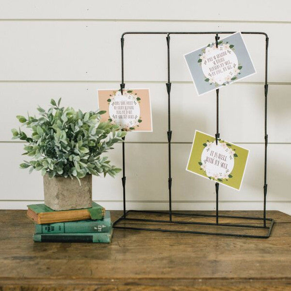 Standing Metal Photo & Card Holder
