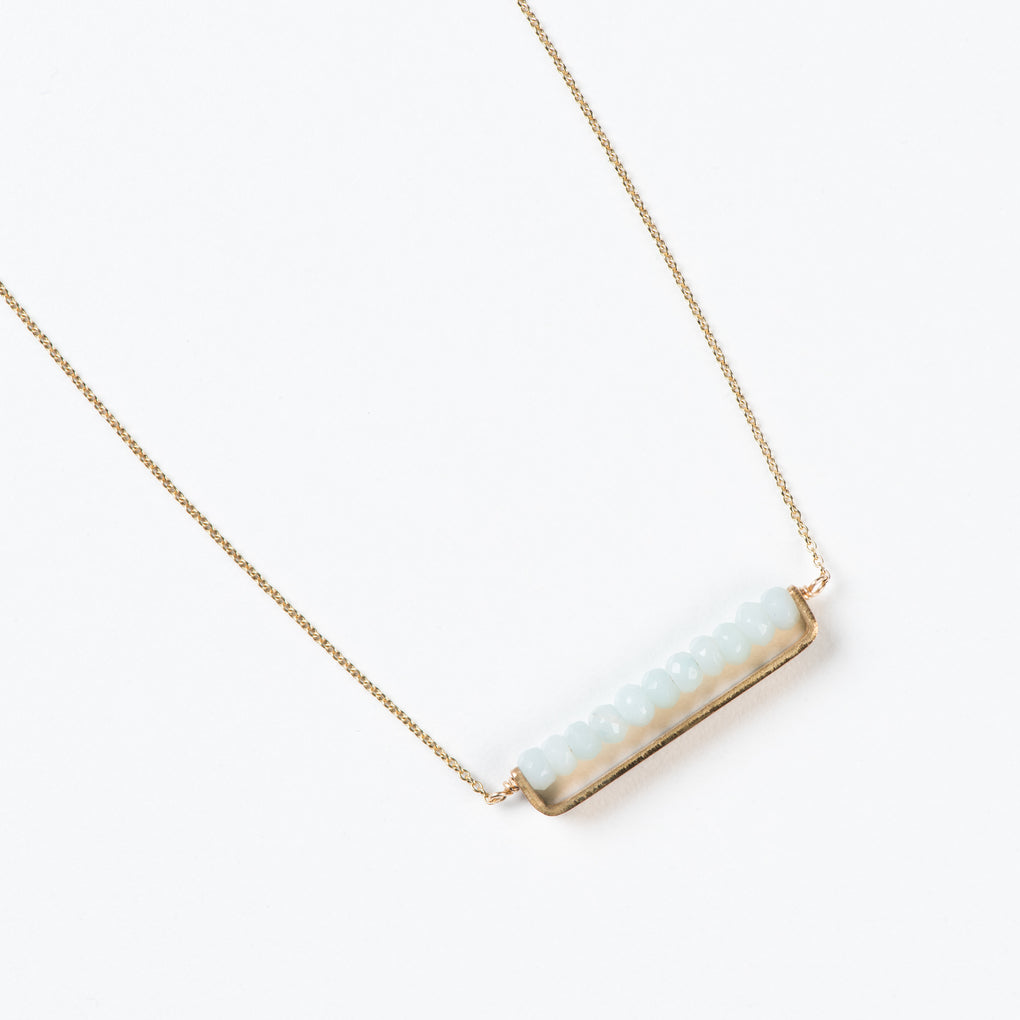 Waco made simple gold bar necklace