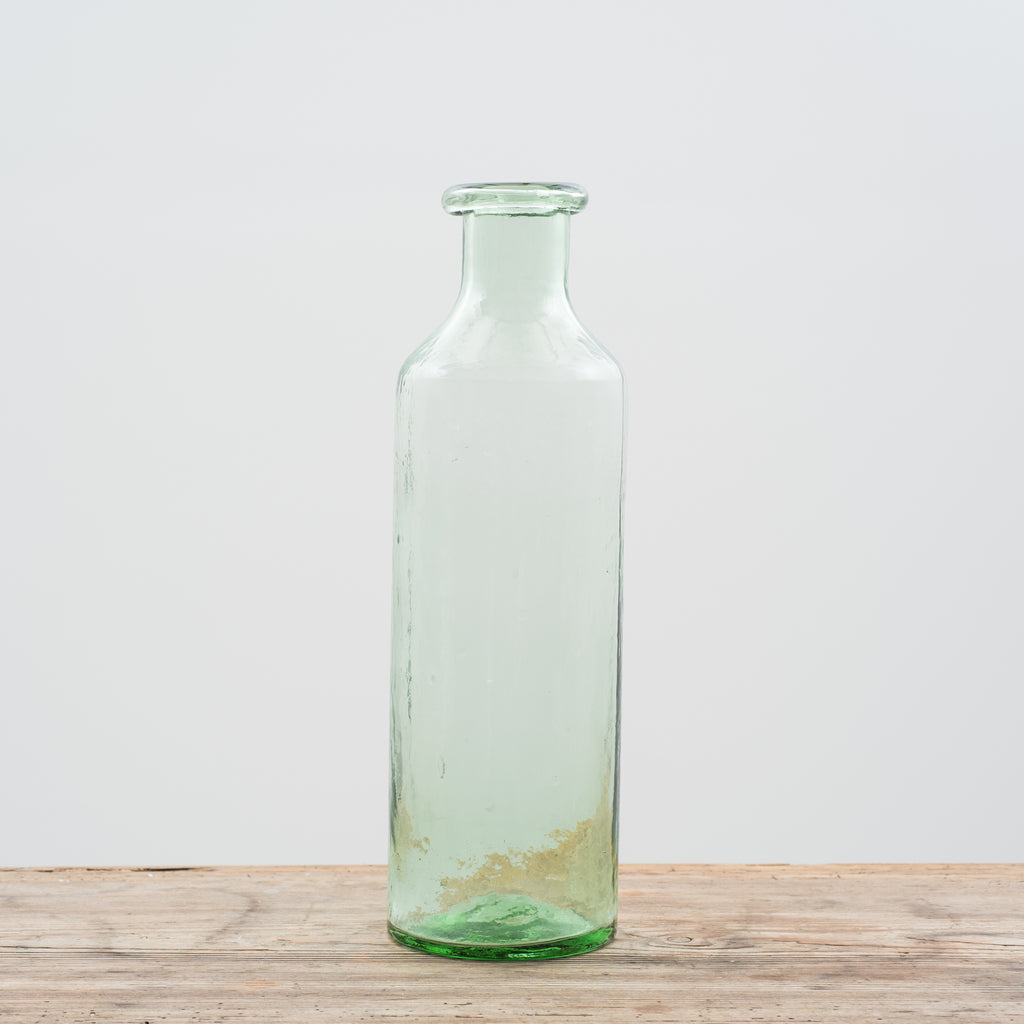 tall glass apothecary bottle vase