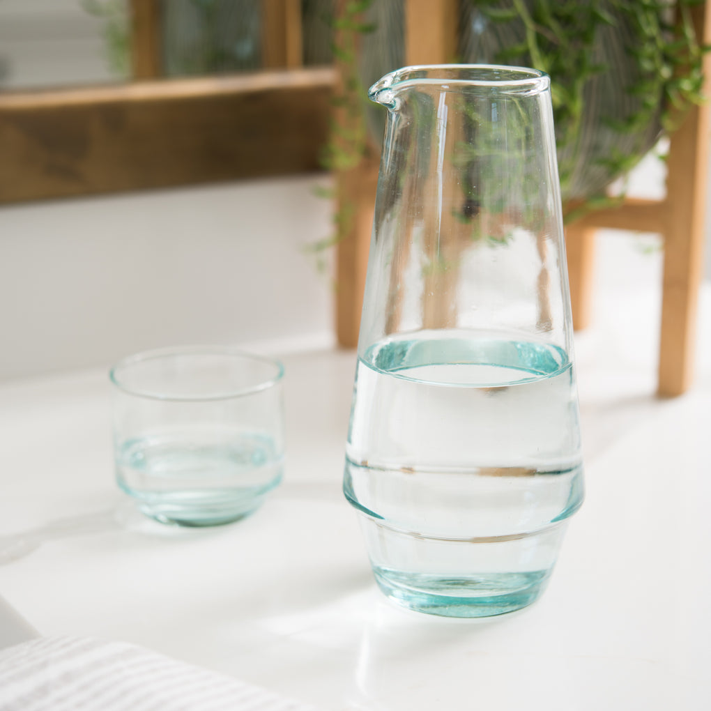 tapered glass carafe
