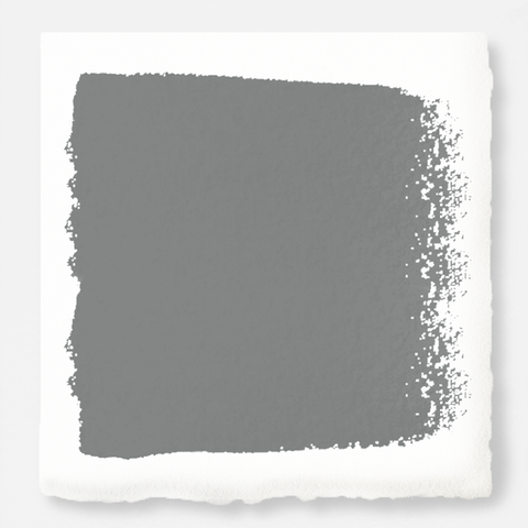 A dark gray with blue and green undertones exterior paint