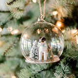 terrier dog globe ornament