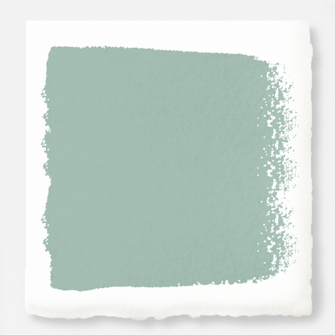 Aqua and minty blue slightly muted with gray exterior paint