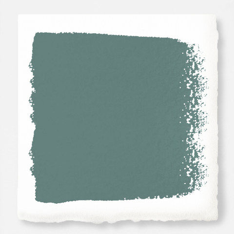 A dark, dusty aqua exterior paint