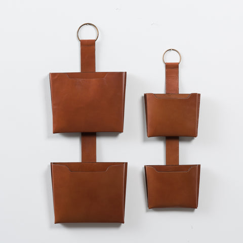 Leather Vertical Wall Pocket