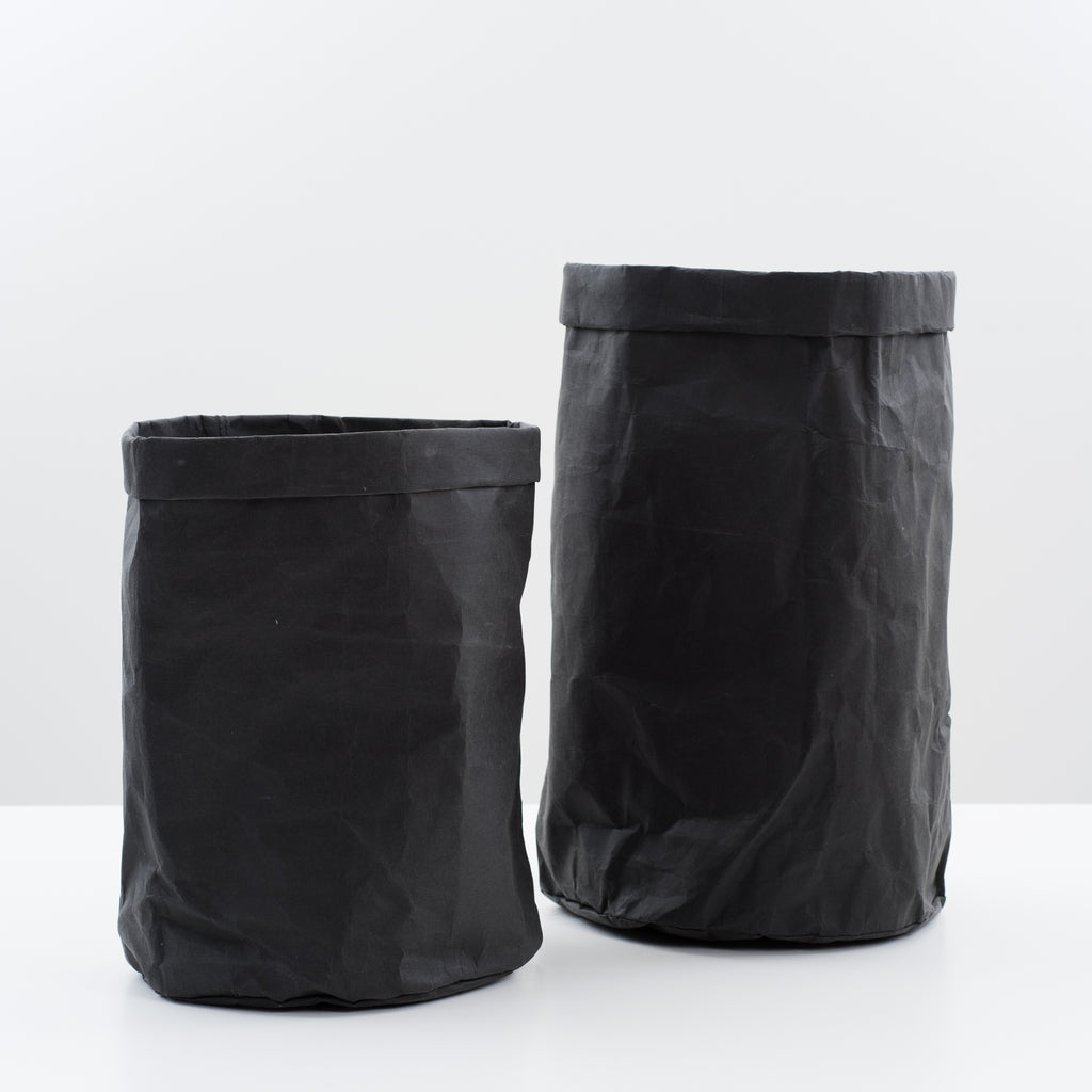 black washable paper hamper