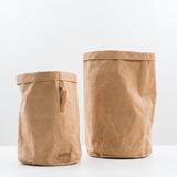 brown spot-cleanable paper hamper