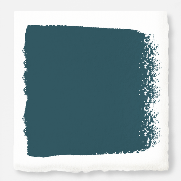 Blue and green combined to create an ashy peacock blue exterior paint