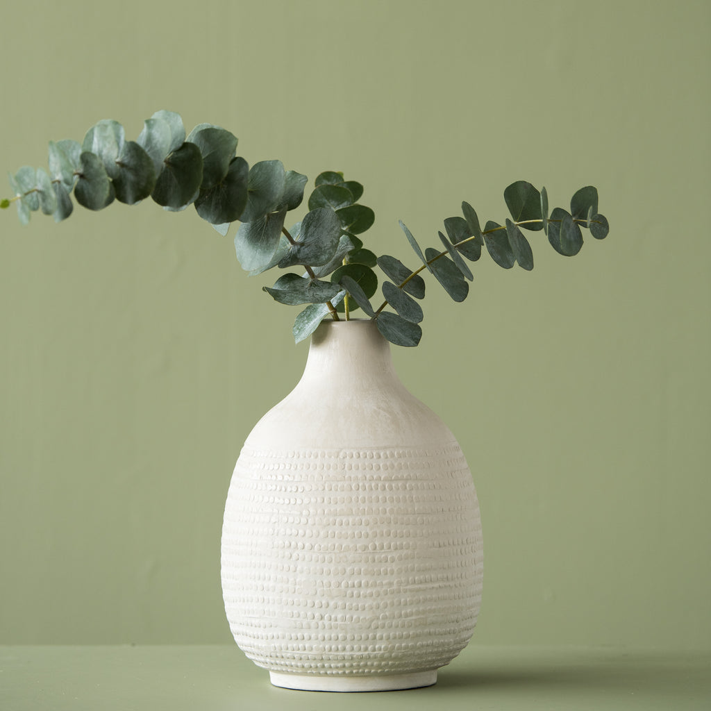 modern white ceramic bubble vase