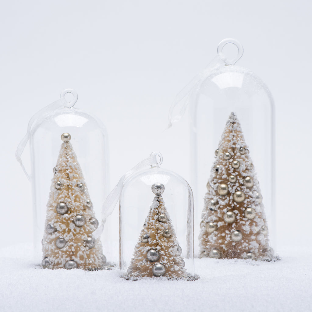 63c7734b0571e6 White Christmas Tree Cloche Ornament | Magnolia
