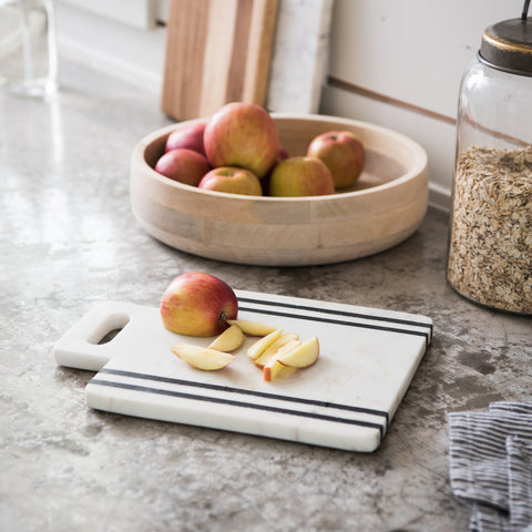 square marble cutting board with handle