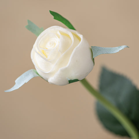 faux white cabbage rose