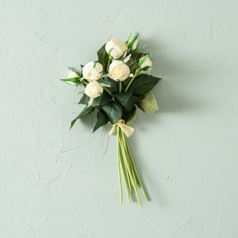 faux white cabbage rose bundle