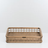 wood and bamboo grid tray