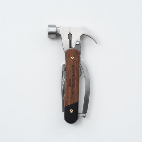 wood handled multi tool hammer