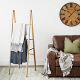 wooden a-frame display ladder