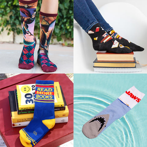 Awesome book-themed socks!