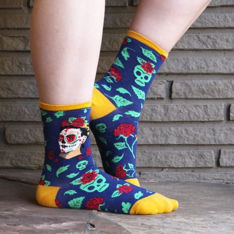 Dia De Los Frida women's socks