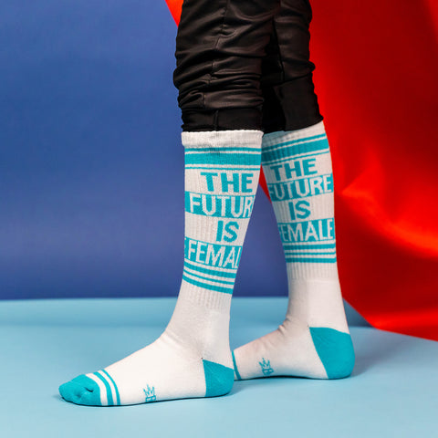 The Future Is Female unisex socks