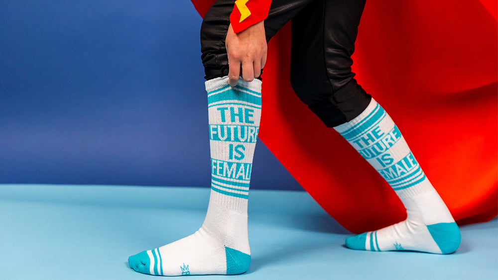 Future Is Female socks to celebrate girl power