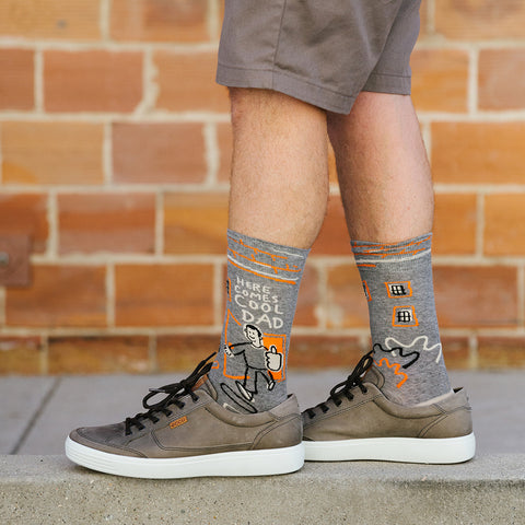 Here Comes Cool Dad socks for men
