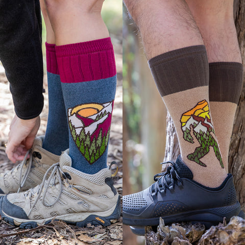 Men's and women's hiking socks from Atomic Child