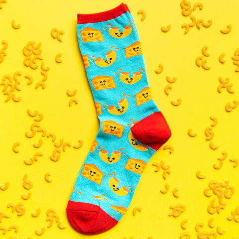 mac n cheese socks for women