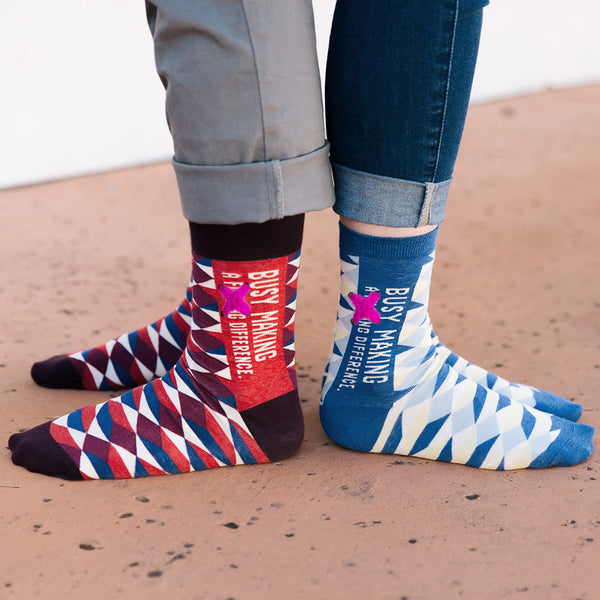 Busy Making a F*cking Difference socks for men and women