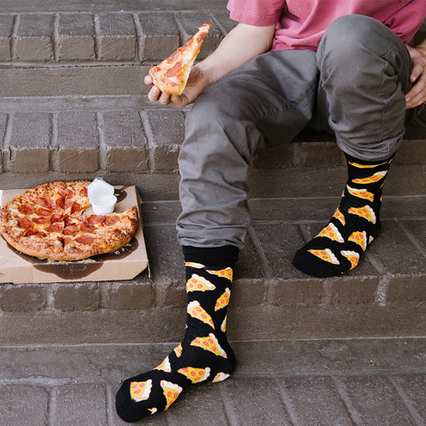 pizza socks for men
