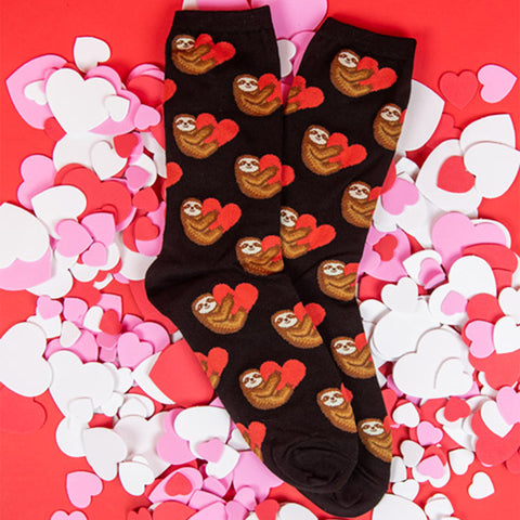 sloth love socks for women