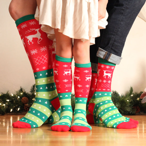 Tacky Holiday Sweater Christmas socks for the whole family