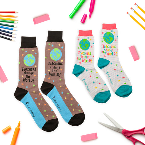 Teacher's World socks for men and women
