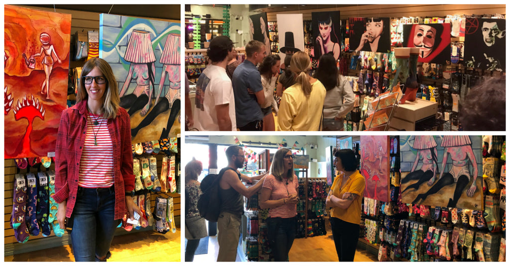 Art After Dark events at The Sock Drawer shop