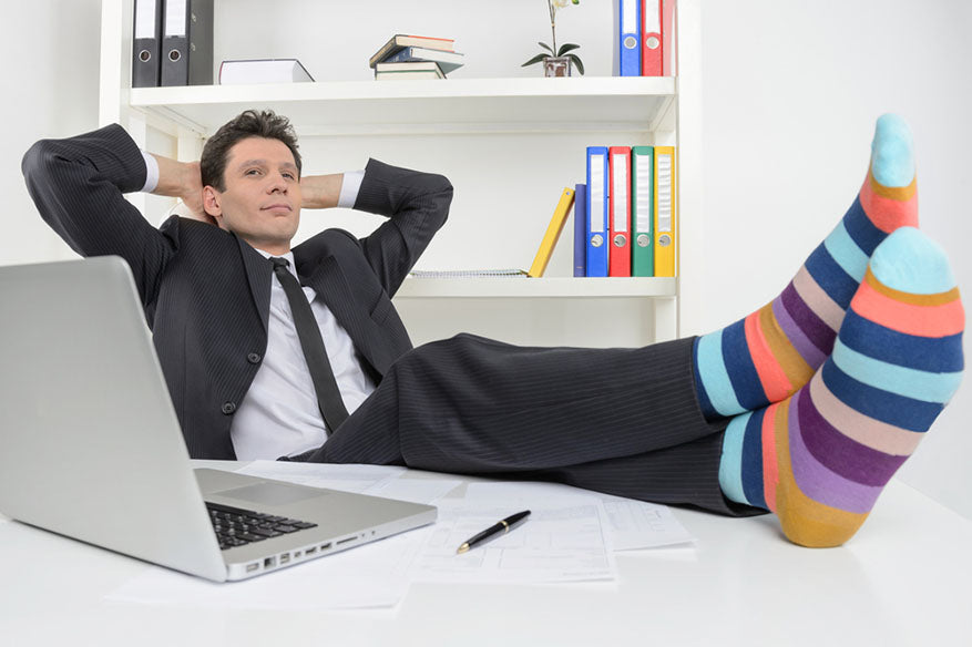 businessman with funky socks